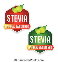 Stevia Natural sweetener label vector