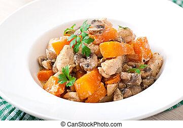 Stew chicken