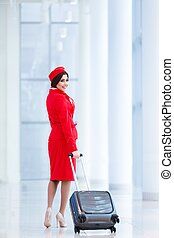 Stewardess at airport