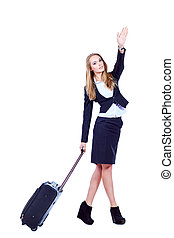 stewardess - Full length portrait of a successful young...