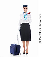 Stewardess isolated