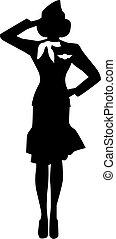 Stewardess Silhouette Person