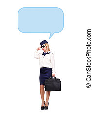 Stewardess thinking