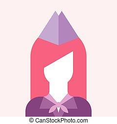 Stewardess vector avatar