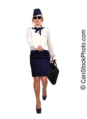 stewardess walking