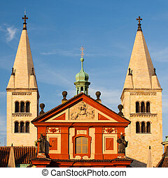 st.george's, 王宮, 在, 布拉格