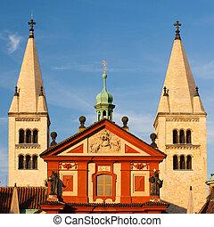 st.george's, basílica, em, praga