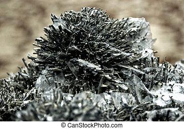 Stibnite, antimony