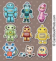 sticers, rysunek, robot