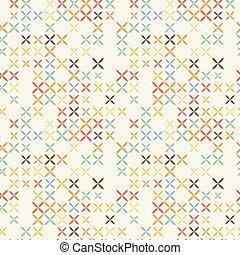 stich, pattern., seamless, kreuz