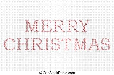 stich, weihnachten, fröhlich, kreuz