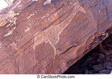 stiche, prähistorisch, tourist, berühmt, spielraum- bestimmungsort, gestein, anziehungskraft, twyfelfontein, afrika., namibia