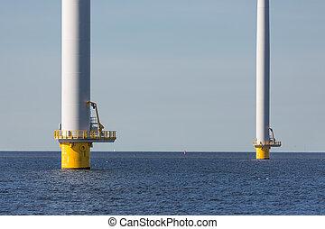 stichting, turbines, wind, zee, groot