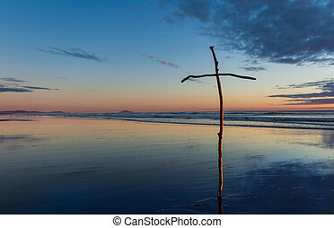 Stick Beach Cross