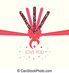 Stick biscuits valentine's day poster