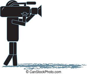 Stick Figure Cameraman