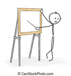 Stick Figure Cartoon - Stickman while Teaching in a Seminar.