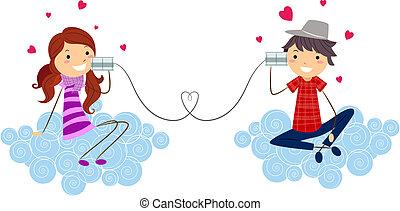 Stick Figure Couple - Illustration of a Stick Figure Couple...