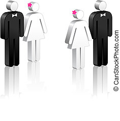 Stick Figure Couples