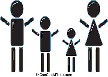 Stick Figure Family - simple design of a stick figure family...