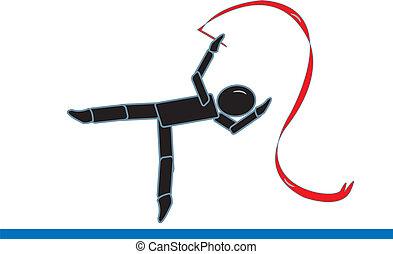 Stick Figure Gymnast