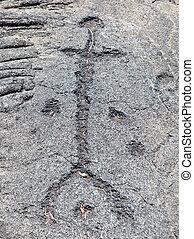 Stick Figure Human Petroglyph