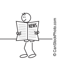 stick figure newspaper