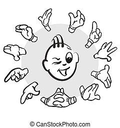 Stick figure series emotions - create a lot
