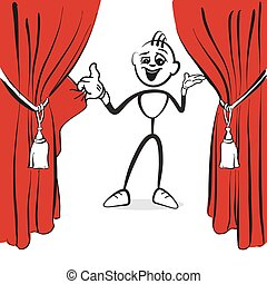 Stick figure series Emotions - Open an event, hand-drawn...