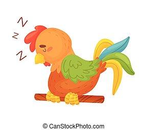 stick., fondo., marrón, ilustración, delgado, vector, gallo...