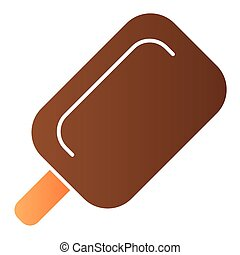Stick ice cream flat icon. Ice lolly color icons in trendy flat style. Sweets gradient style design, designed for web and app. Eps 10.