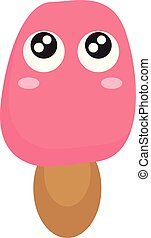 Stick ice cream vector or color illustration