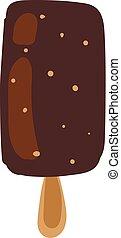Stick ice-cream vector or color illustration