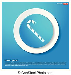 stick Icon Abstract Blue Web Sticker Button