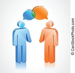 Stick Icon Discussin