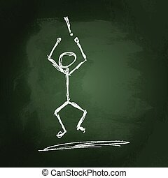 Stick man with an exclamation mark
