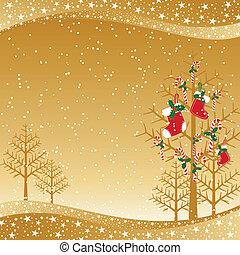 stickande, jul, bakgrund