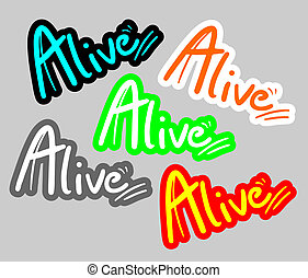 Sticker alive - Creative design of sticker alive