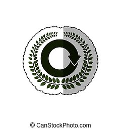 sticker arch of leaves with reloaded symbol