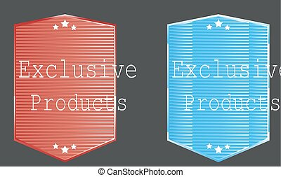 Sticker banner exclusive product two versions.