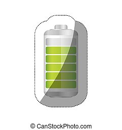 sticker battery symbol with level indicator charge