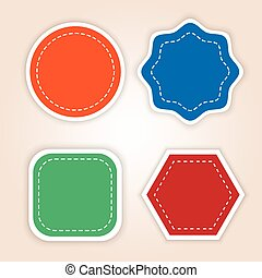sticker blank vector