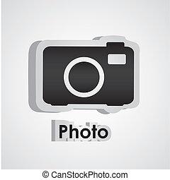 sticker camera - Illustration of sticker camera, vector...