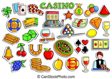 Sticker collection for Casino and Gambling object icon