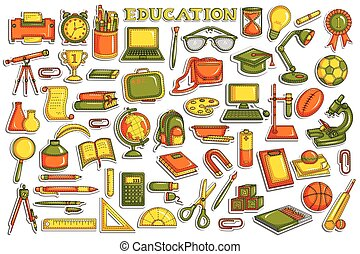 Sticker collection for education object