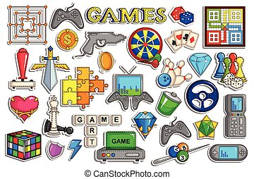 Sticker collection for video game interface object