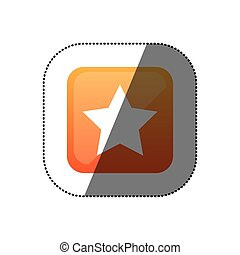 sticker color square emblem with star icon