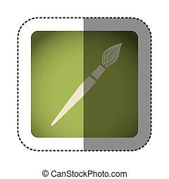 sticker color square with brush icon