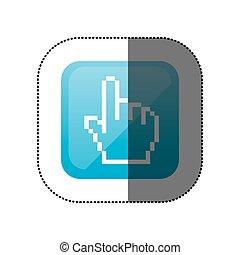 sticker color square with hand cursor icon