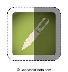 sticker color square with pen icon